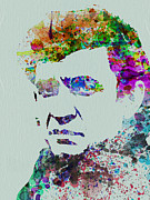 Johnny Cash Prints - Johnny Cash Watercolor 2 Print by Irina  March