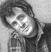 Word Portrait Drawings Posters - Johnny Clegg Poster by Timothy Glasby
