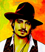 Actors Painting Originals - Johnny Depp 5 by Jann Paxton