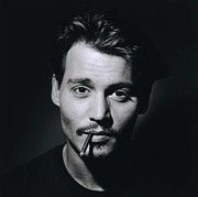 Movies Photo Framed Prints - Johnny Depp Framed Print by Sanely Great