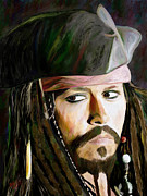 Portraits Framed Prints - Johnny Depp Framed Print by James Shepherd