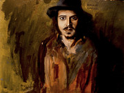 Actors Painting Originals - Johnny Depp by Masaad Amoodi