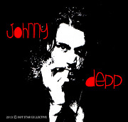 Johnny Mixed Media Posters - Johnny Depp  Poster by Neil Dawson