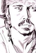 Signed Prints Drawings - Johnny Depp by Sachith Bandara senanayake