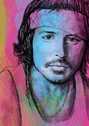 Actor Mixed Media - Johnny Depp - stylised pop art drawing sketch poster by Kim Wang
