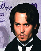 Johnny Framed Prints - Johnny Depp Framed Print by Unknown