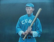 Chicago Cubs Paintings - Johnny Evers by Mark Haley