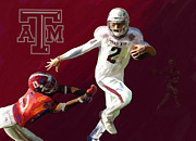 University Of Alabama Painting Prints - Johnny Football Print by GCannon
