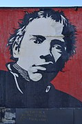 Henry Rollins Framed Prints - Johnny Rotten Framed Print by Allen Beatty