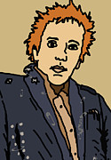 Band Digital Art Prints - Johnny Rotten Print by Jera Sky