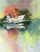 Rowboat Originals - Johns Boat Autumn by Kris Parins