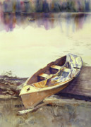 Sport Artist Paintings - Johns Boat by Kris Parins