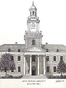 Other Famous University Campus Buildings - Johns Hopkins University by Frederic Kohli