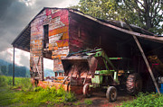 Tennessee Barn Posters - Johns In The Barn Poster by Debra and Dave Vanderlaan