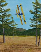 Stearman Prints - Johns Landing Print by Gene Ritchhart