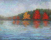 Cape Cod Pastels Originals - Johns Pond by Mary Olivera