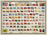 Old Map Digital Art Acrylic Prints - Johnsons New Chart of National Emblems Acrylic Print by Nomad Art And  Design