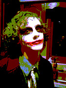 Celebrities Metal Prints - Joker 1 Metal Print by Alys Caviness-Gober