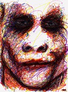 City Scene Drawings Originals - Joker - Eyes by Rachel Scott