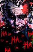 Ledger; Book Digital Art Posters - Joker Poster by Jeremy Scott
