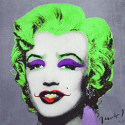 Nerd Framed Prints - Joker Marilyn Framed Print by Filippo B