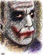 Joker - Pout Print by Rachel Scott