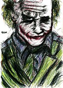 Ledger; Book Posters - Joker - Smirk Poster by Rachel Scott
