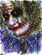 Christopher Drawings - Joker - Tilt by Rachel Scott