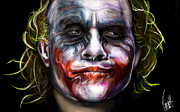 Actors Digital Art Prints - Joker Print by Vinny John Usuriello