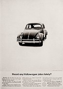 Vw Beetle Framed Prints - Jokes Framed Print by Benjamin Yeager