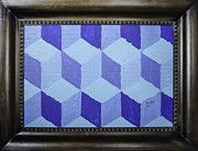 Derivative Framed Prints - Jolly Cubes Framed Print by Tate Fallon