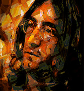 John Lennon Digital Art Originals - Jon Lennon by Scott Davis