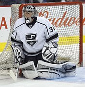 Puck Framed Prints - Jonathan Quick Poster Framed Print by Sanely Great