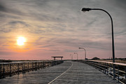 Beach Sunsets Framed Prints - Jones Beach Boardwalk Framed Print by JC Findley