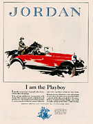 Vintage Posters - Jordan 1926 1920s Usa Cc Cars Horses Poster by The Advertising Archives