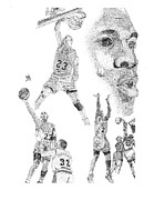 Michael Jordan Prints - Jordan at his best Print by Joe Rozek