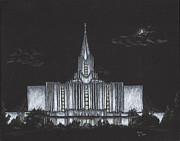 Jordan River Utah Lds Temple Print by Pris Hardy