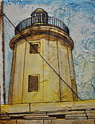 Lansdcape Prints - Jordans Light House Gozo Print by David Xuereb