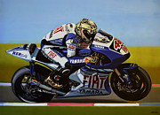 Yamaha Framed Prints - Jorge Lorenzo Framed Print by Paul  Meijering