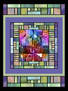 Rock Art Digital Art - Jornada Mogollon Kaleidoscope by Kurt Van Wagner