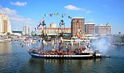 Tall Ship Prints - Jose Gasparilla 2013 Print by David Lee Thompson