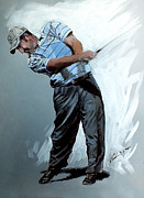 Golfer Paintings - Jose Maria Olazabal by Mark Robinson