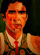 Toreador Painting Prints - Jose Tomas Print by Manuel Sanchez