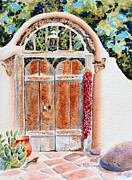 Chili Peppers Painting Originals - Josefinas Old Gate by Deb  Harclerode