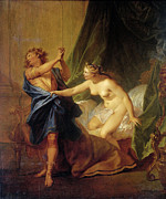 Famous Artists - Joseph and Potiphars wife by Nicolas Bertin