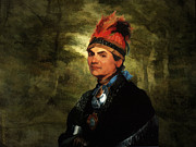Confederacy Digital Art Prints - Joseph Brant after Stuart Print by Lianne Schneider