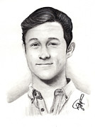 Rosalinda Drawings - Joseph Gordon Levitt 2 by Rosalinda Markle