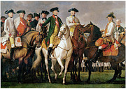 Entourage Framed Prints - Joseph II and his Entourage Framed Print by Martin Ferdinand Quadal
