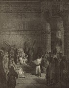 Warning Drawings - Joseph Interpreting Pharaohs Dream by Antique Engravings