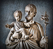 Saint Joseph Metal Prints - Joseph of Nazareth Metal Print by Lee Dos Santos